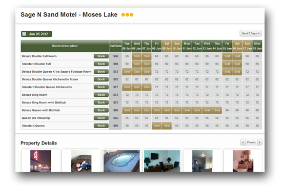 Book Accommodation Online in Moses Lake at Sage N Sand Motel